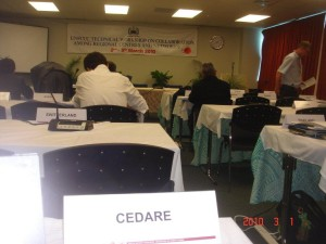 CEDARE deliver presentation on Role of Regional Centers in Climate Change